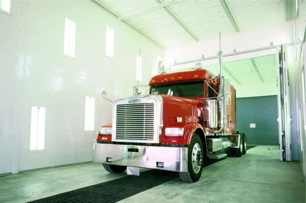 Cabina de pintura industrial camiones