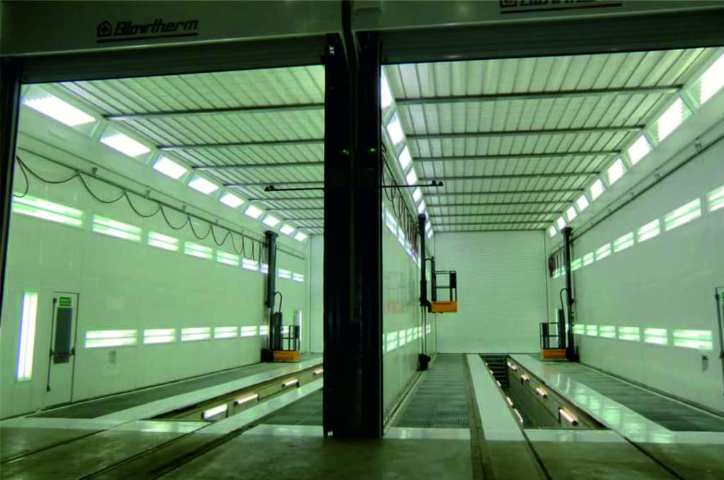 Cabina pintura blowtherm aplicaciones industriales