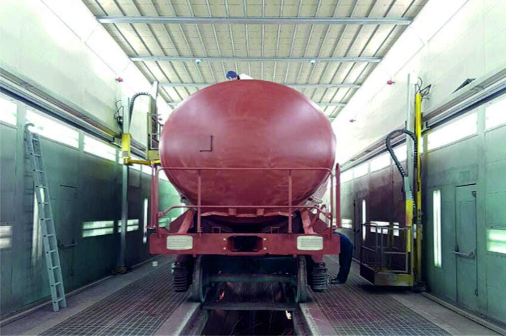 Cabina pintura industrial para trenes