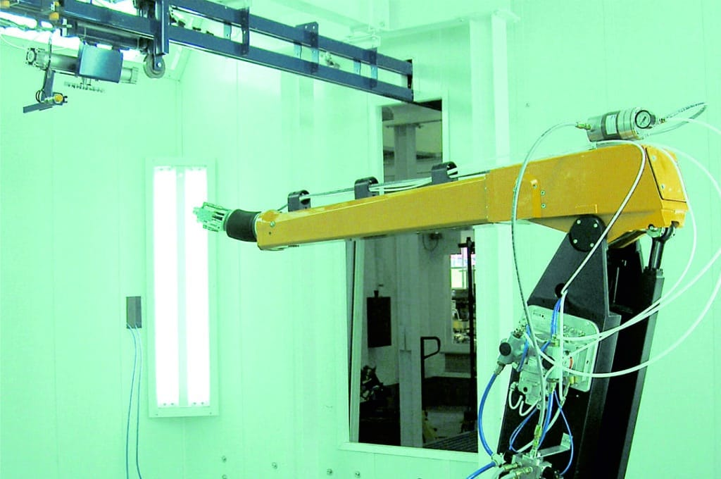 Linea industrial pintado automático robot