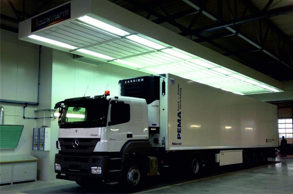 Zona preparación Blowtherm camiones