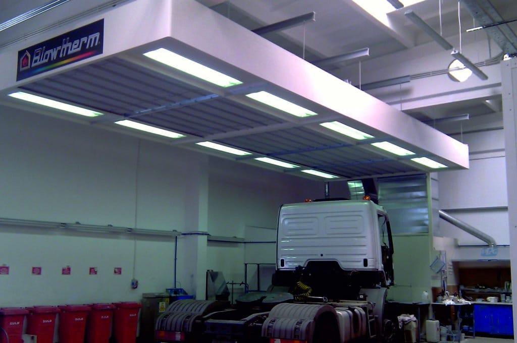 Zona preparación camiones